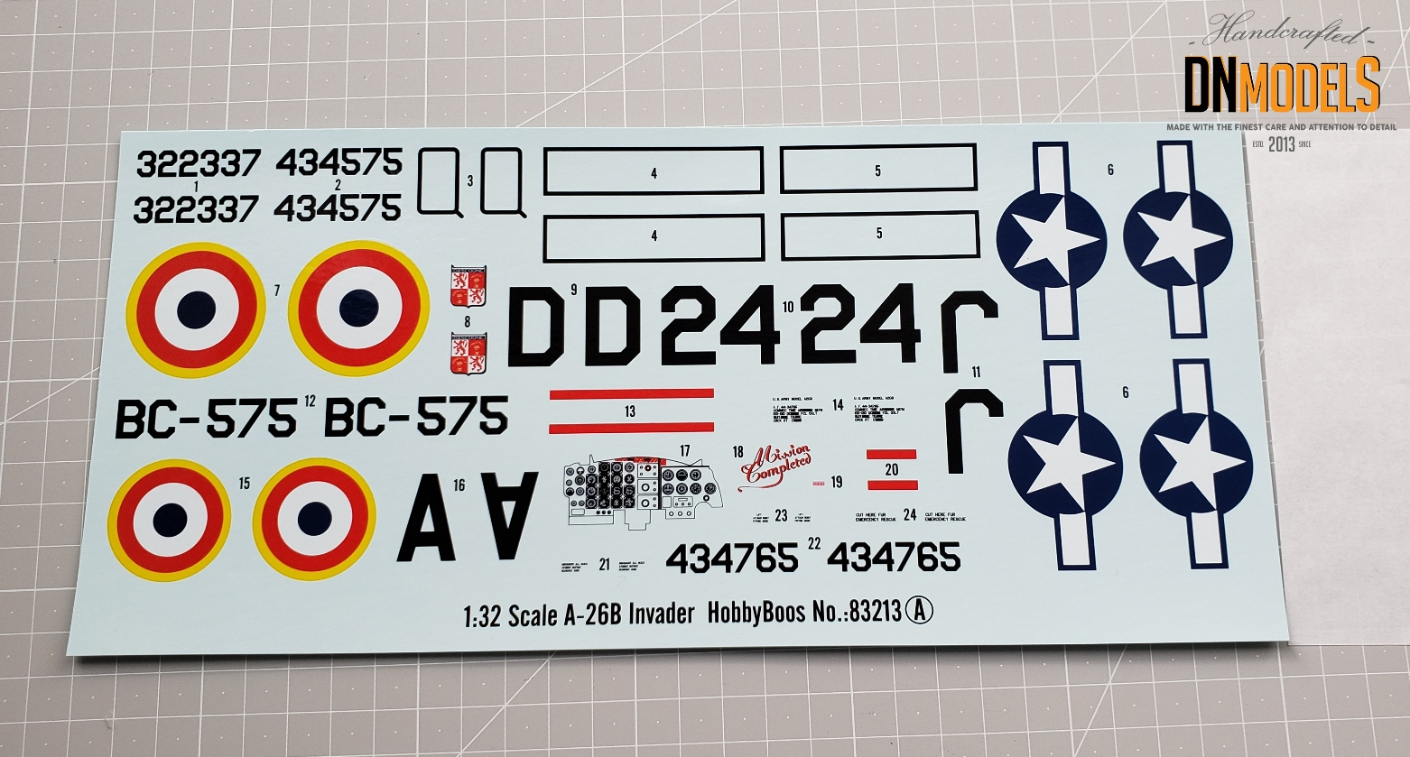 decals A26B Invader Hobby Boss 83213 review dn models masks for scale models