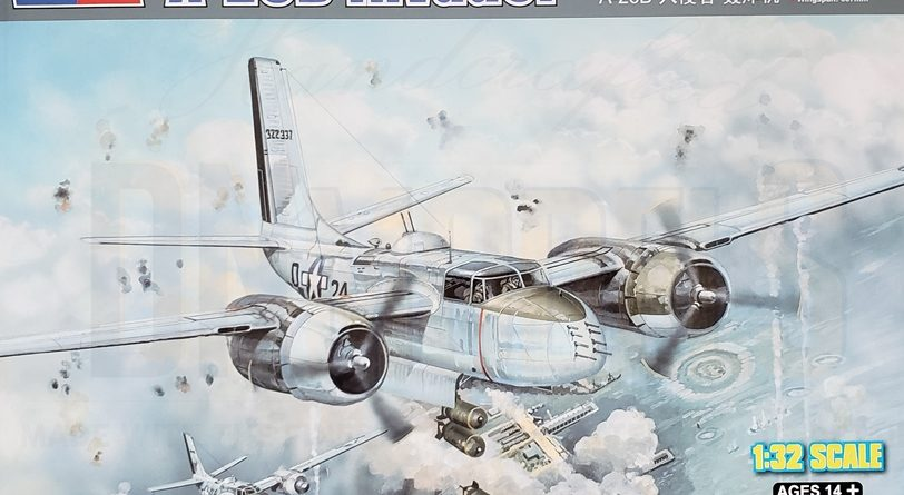 A26B Invader Hobby Boss 83213 review dn models masks for scale models