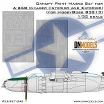 Cover A-26B Invader Canopy Mask Set For HobbyBoss 83213 32nd scale (site)