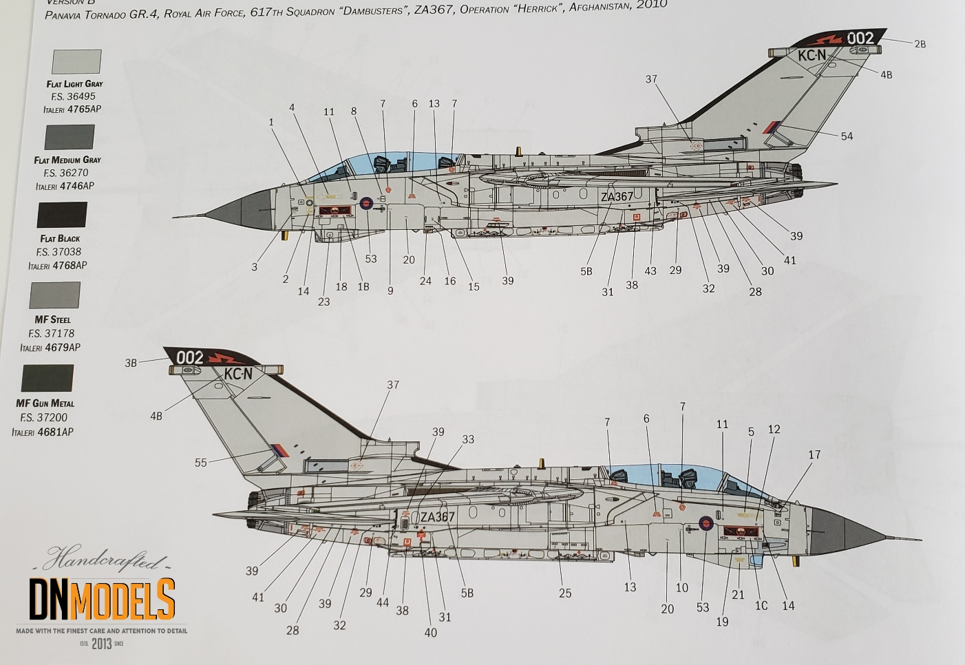 tornado gr.4 italeri 2513 review dn models masks for scale models