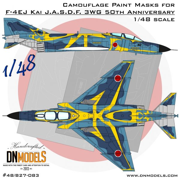 F-4EJ Kai J.A.S.D.F. 3WG 50th Anniversary Paint Mask Set 1/48 dn models masks for scale models