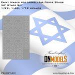 Paint Masks for Israeli Air Force Stars, IAF set, Star of David 1/32, 1/48, 1/72