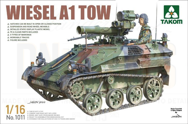 Wiesel A1 TOW 1/16 from TAKOM dn models masks for scale models