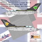 Cover Tornado Gr.4 RAF, Tornado Farewell, Special (Retirement) Livery 2019 32nd scale (Site)