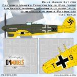 Cover Typhoon Mk.1B (Car Door) German Insignia (Airfix A19003A) 24th scale (Site) DN Models