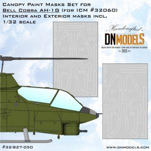 Bell AH-1G Cobra CanopyPaint Mask Set for ICM #32060 1/32 - interior & exterior