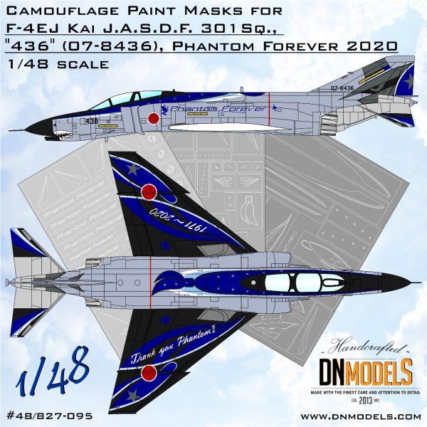 Phantom Forever 2020 F-4EJ Demo Scheme Paint Mask set 1/48 for SWS kits dn models masks for scale models