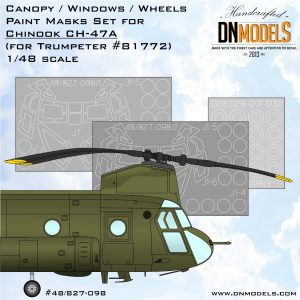 CH-47A Chinook Canopy & WheelsPaint Mask Set for HobbyBoss 1/48 - interior & exterior dn models masks for scale models