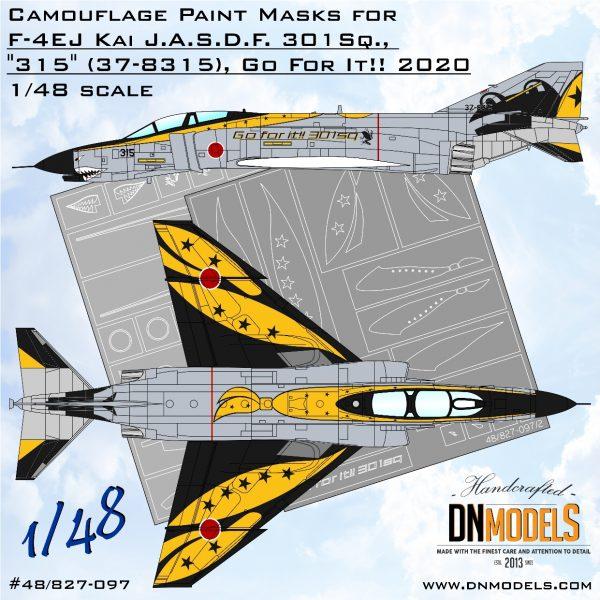 "F-4EJ Kai Phantom ""Go For it! 301SQ"" Demo Scheme Paint Mask set 1/48 dn models masks for scale models"