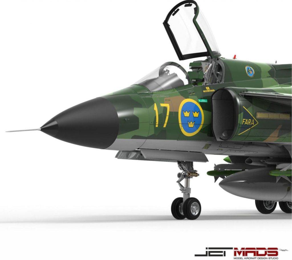 jetmads viggen 1/32 dn models masks for scale models