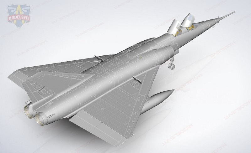 Modelsvit Mirage IV in 48th scale coming - 2022 dn models masks for scale models